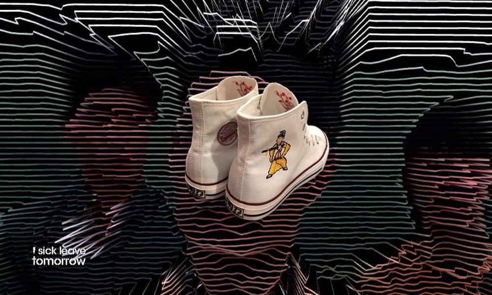 Image of 勅令。天師鬥僵屍帆布鞋  (white)