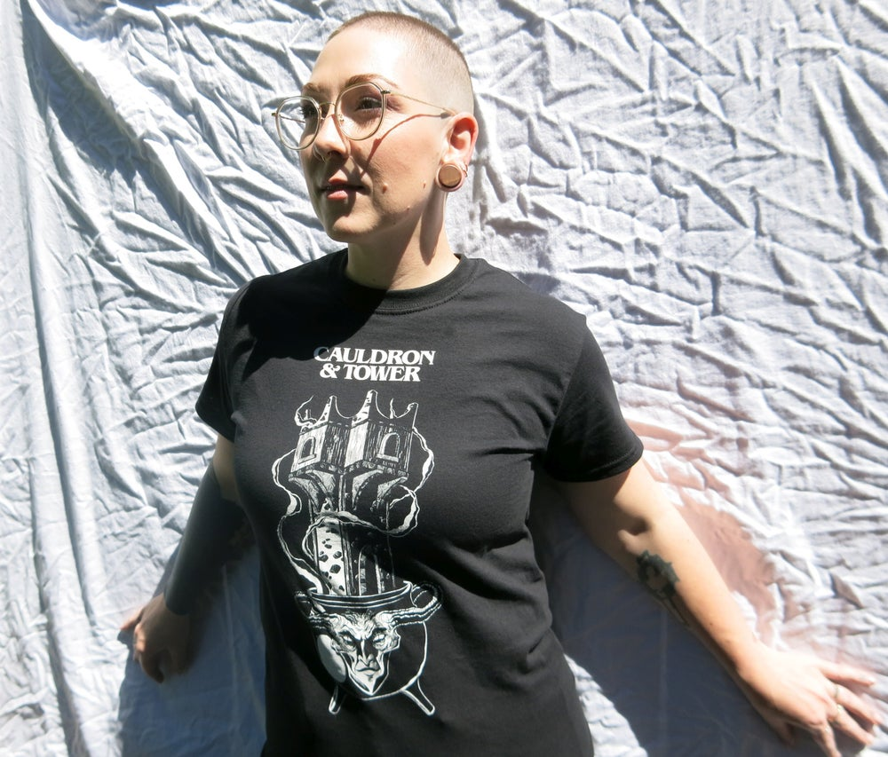 "Image of Cauldron & Tower ""Blackened Iron"" Edition T-Shirt"