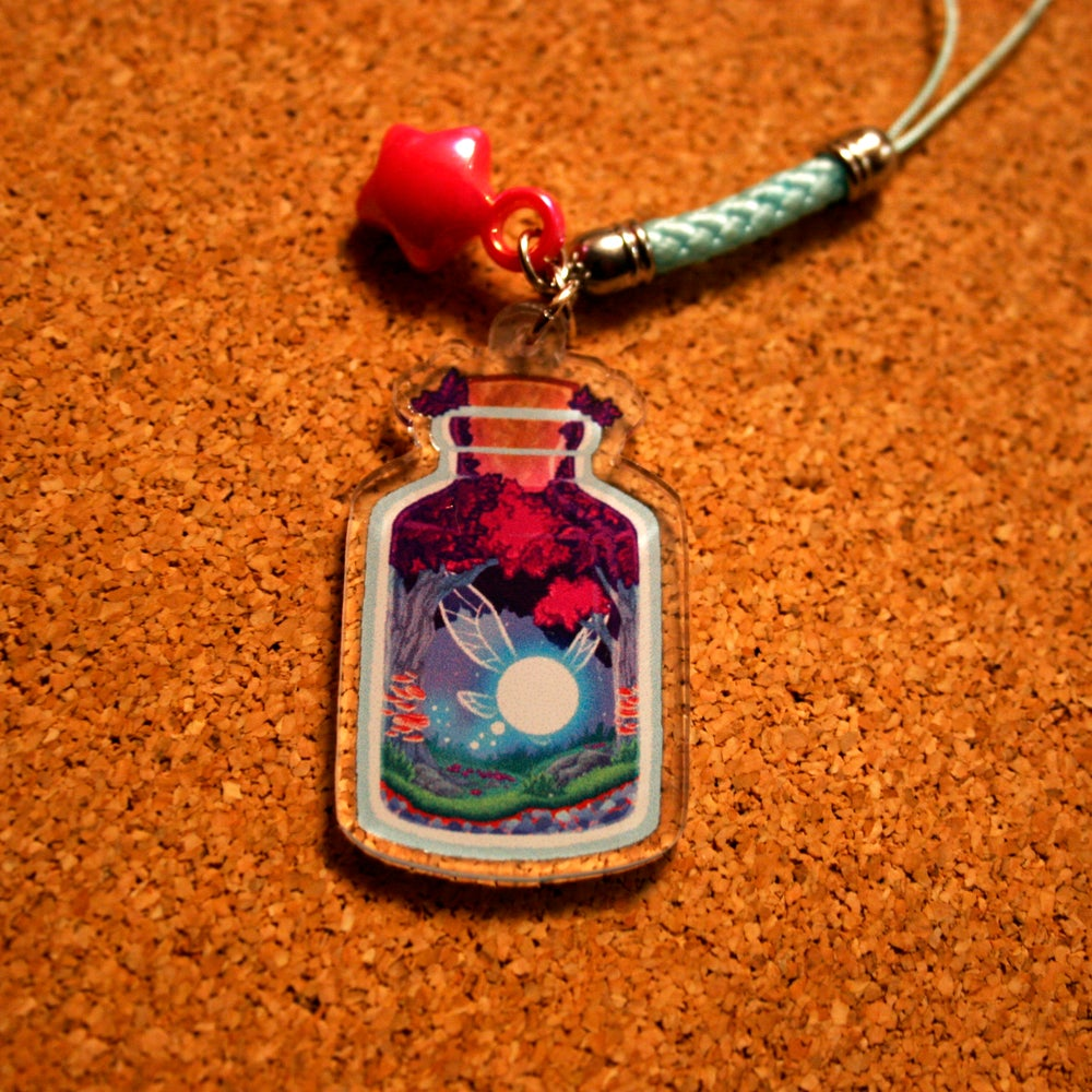 Image of LEGEND OF ZELDA : Fairy in a Bottle Acrylic Charm
