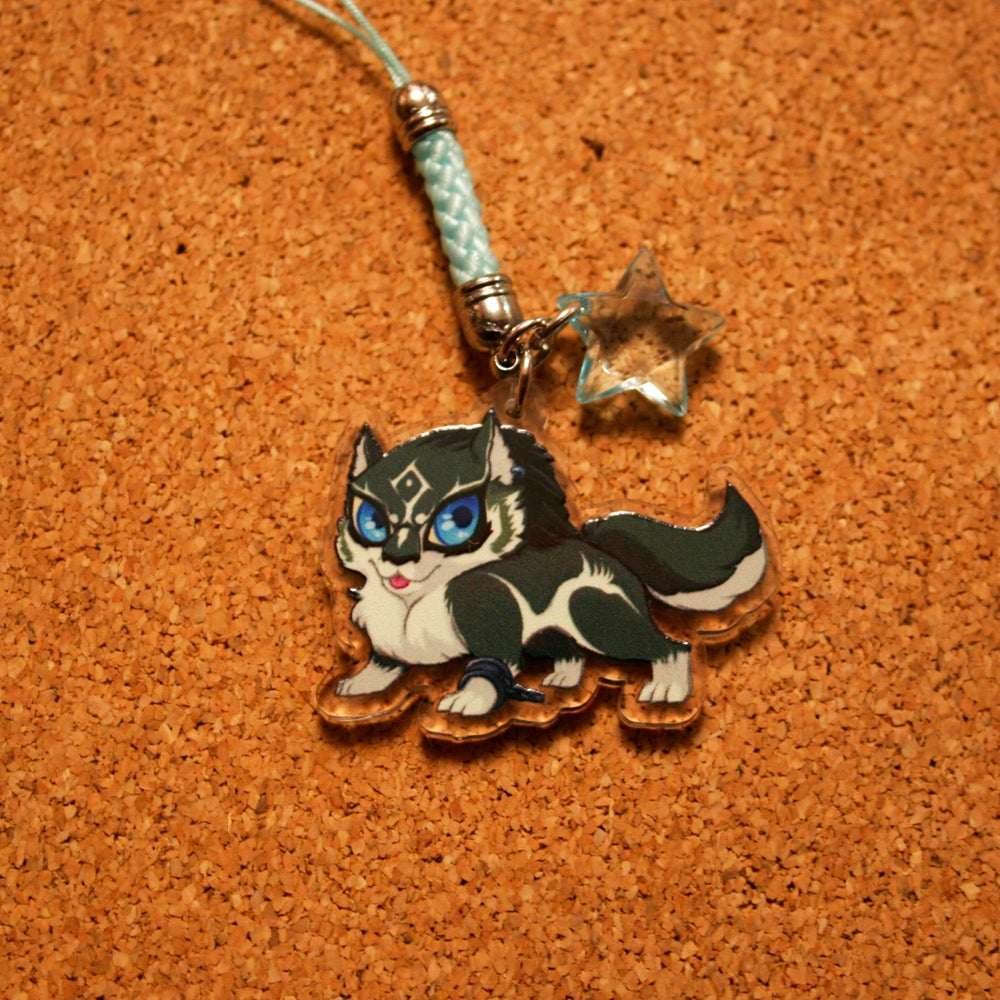 Image of TWILIGHT PRINCESS : Wolf Link Acrylic Charm