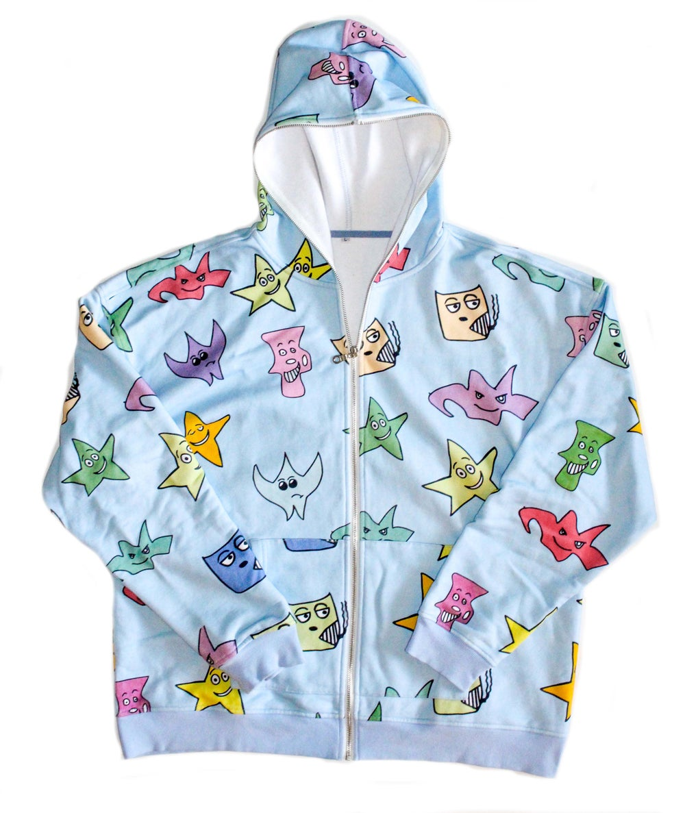 Image of Kindergarten Series Full Zip Hoodie - Blue