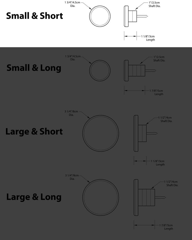 Image of Small and Short - SkateDot - Recycled Skateboard Round Dot Wall Hook.