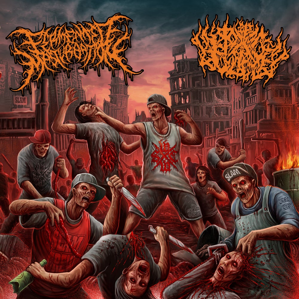 Image of Fermented Masturbation vs Pit Of Toxic Slime - Misanthropic Urban Disease (Split) CD