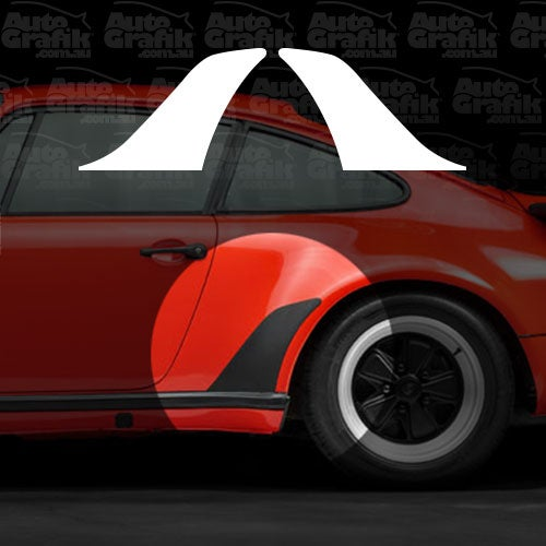 Image of TURBO WIDE BODY SHARK FIN STONE GUARD DECAL SET (L&R)