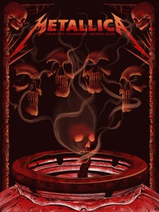 Image of Metallica in Madrid, Spain Poster - Regular