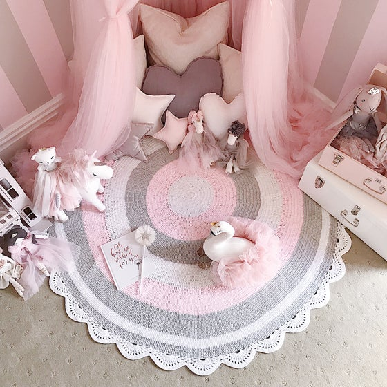 Image of Pink, White and Grey Playmat (Lottie)