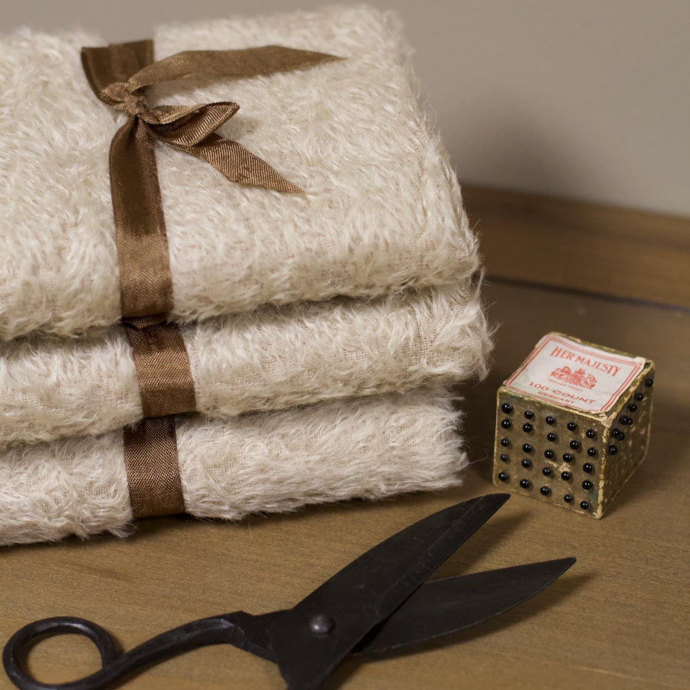 Image of Beautiful Mohair - BEIGE - Distressed/Sparse