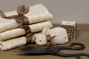 """Viscose for wee friends ~ Stone/Beige 9"""" x 14"""""""