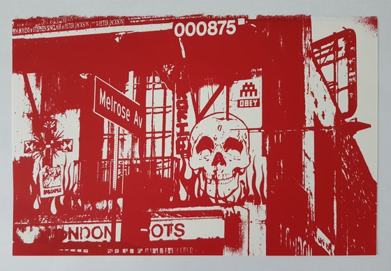 Image of OBEY X INVADER - COLLABORATION SCREENPRINT - LTD ED 300 - 27CM X 18CM