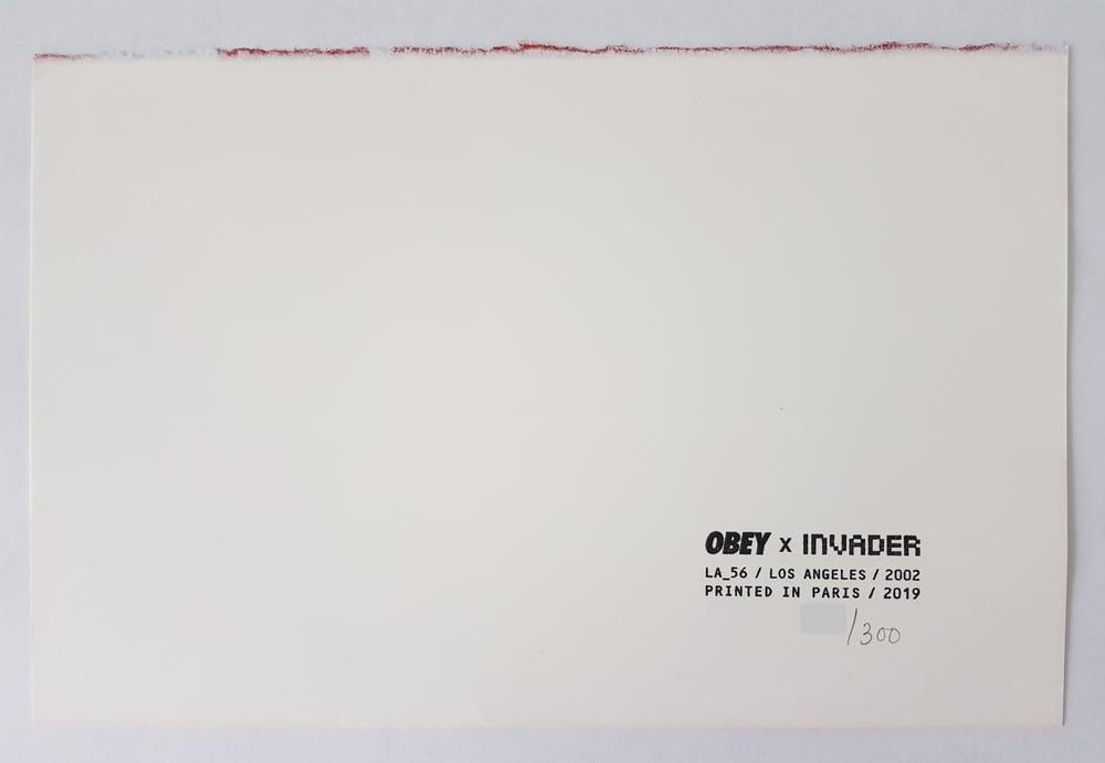 Image of OBEY X INVADER - COLLABORATION SCREENPRINT - LTD ED 300 - 27CM X 18CM