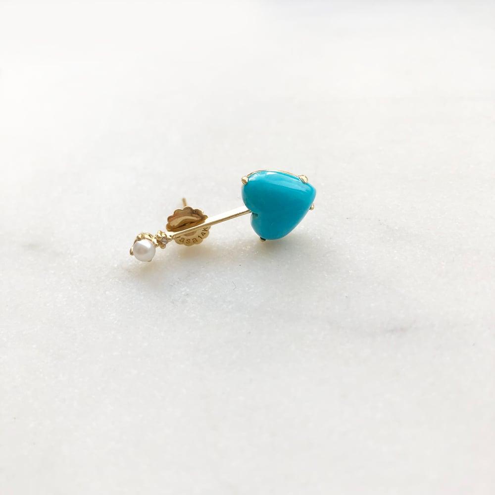 Image of Sleeping Beauty Turquoise Bar Earring