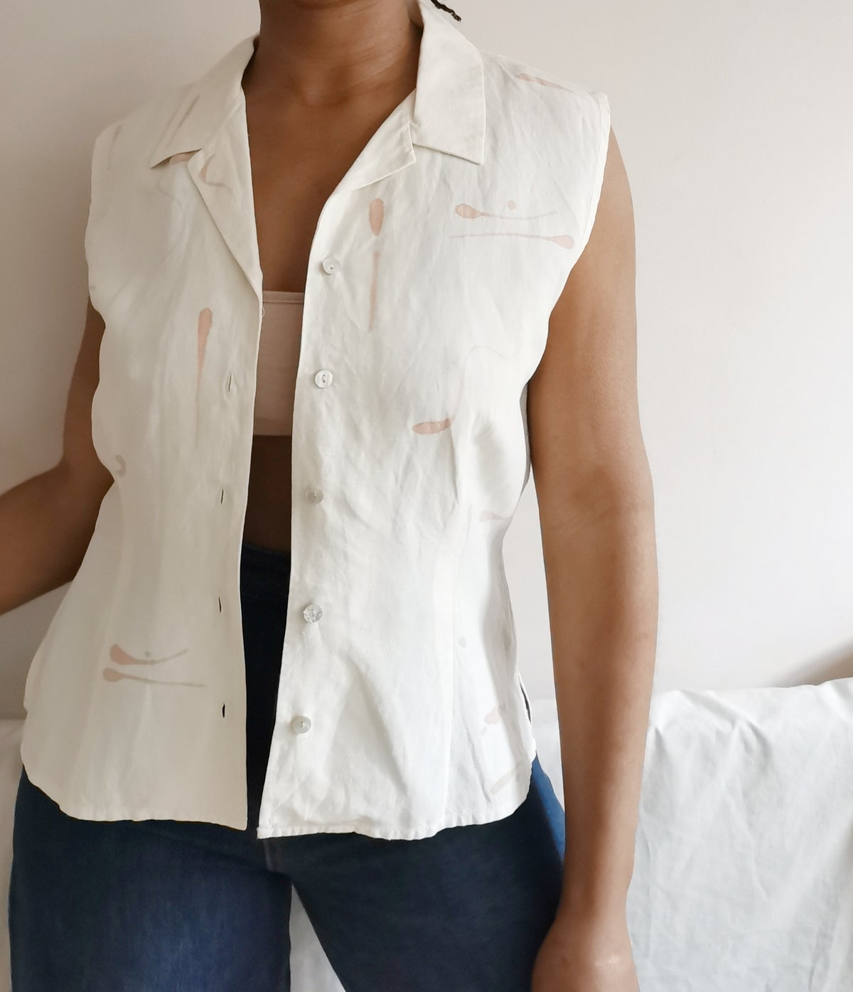 Image of linear blouse