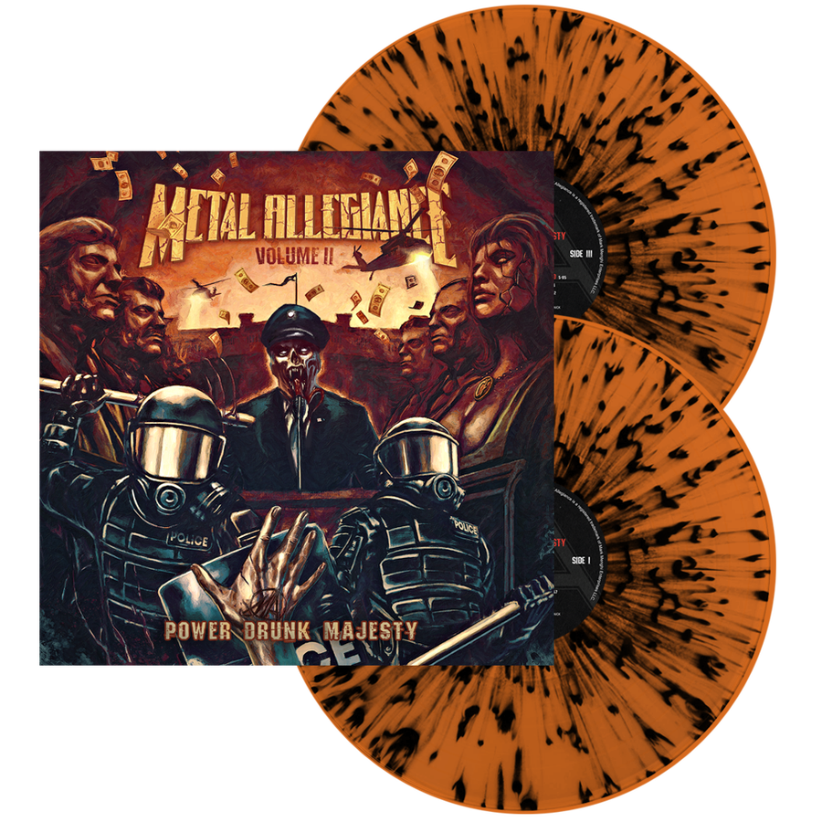Image of Volume II: Power Drunk Majesty (Org/Blk Splatter) Double LP