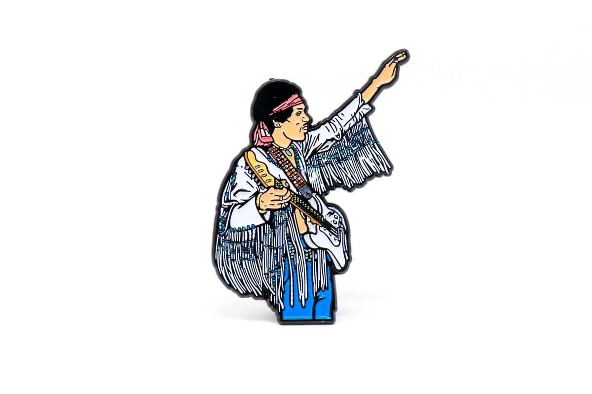 Image of Jimi Hendrix - Woodstock Enamel Pin