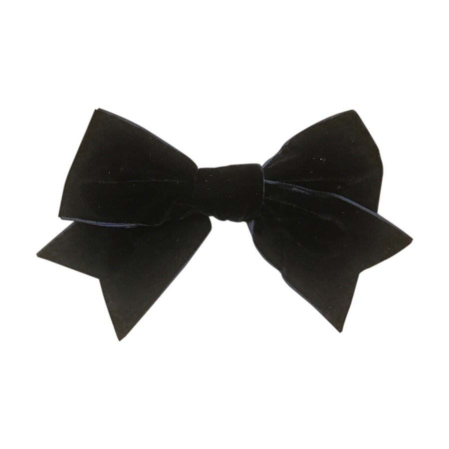 Image of Midnight French Velvet Grand Bow Clip