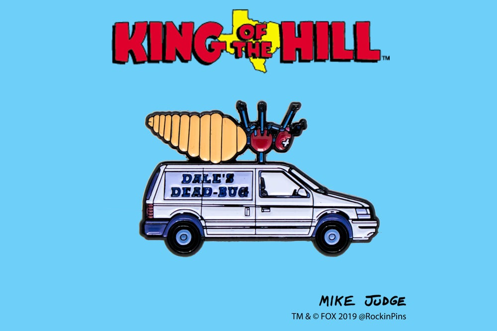 Image of King of the Hill - Dale's Dead Bug Van Enamel Pin