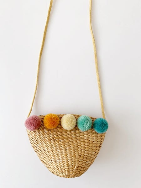 Image of Rainbow Pom Purse - Muted