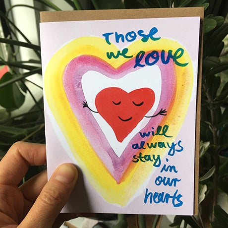 Image of Those we love will always stay in our hearts. Card