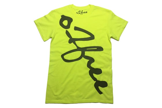 Image of O1free Signature T-shirt Neon