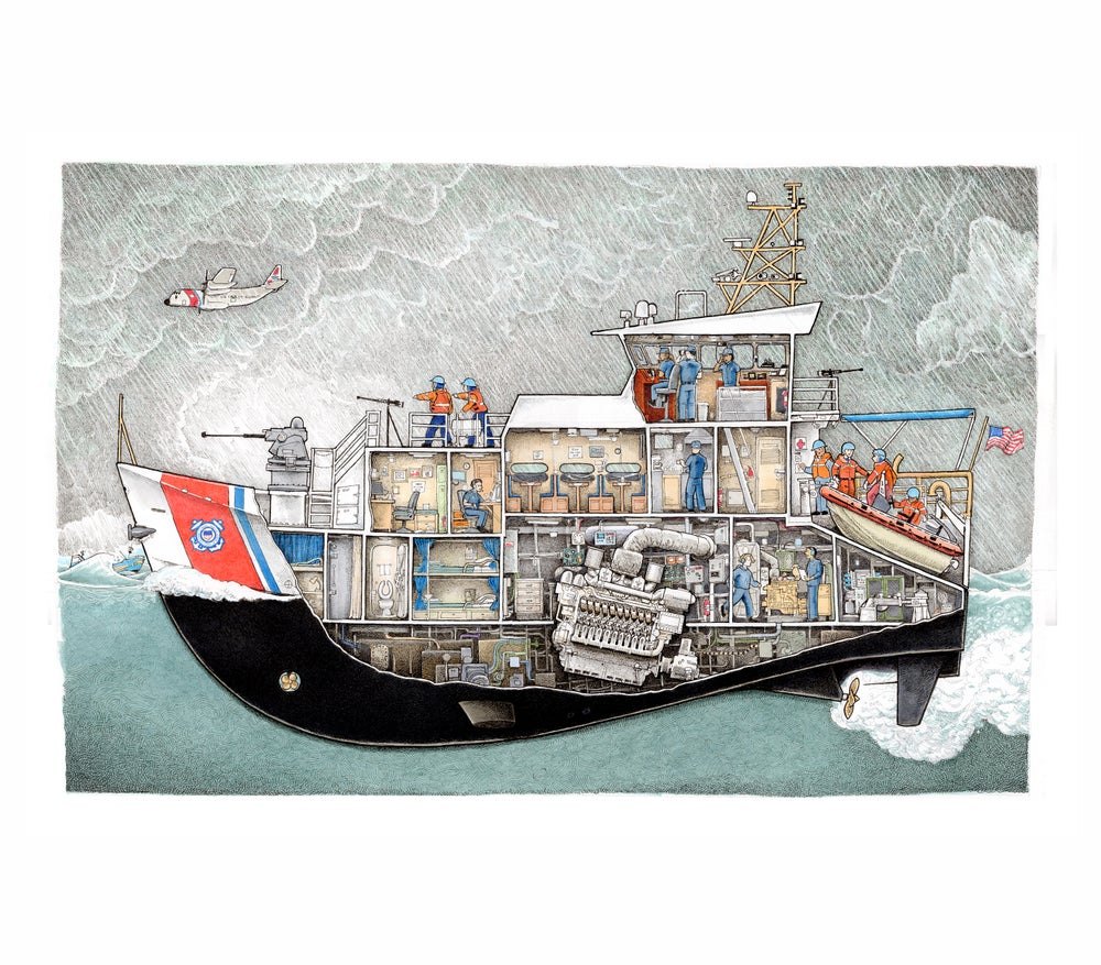"Image of Coast Guard Cutter 12"" X 18"""