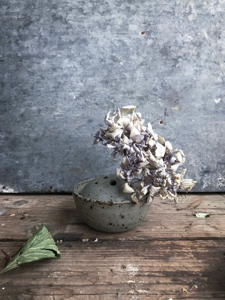 Image of Frog and water dish for small flower arrangements (ii)