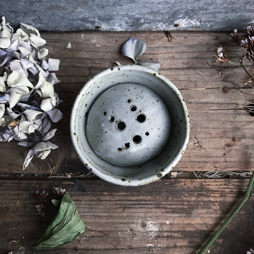 Image of Frog and water dish for small flower arrangements (iv)