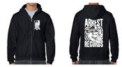Image of Arrest Records Zip Up Hoodies