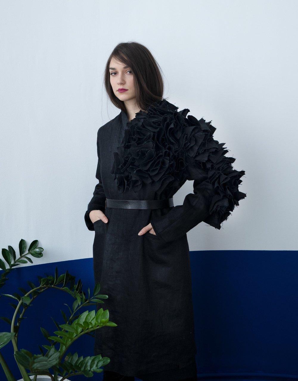 Image of One arm flowers coat