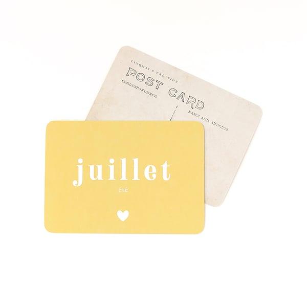 Image of Carte Postale JUILLET