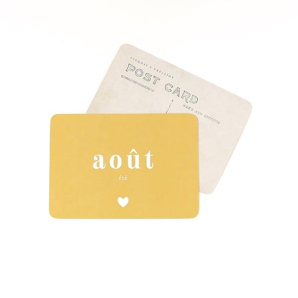 Image of Carte Postale AOÛT