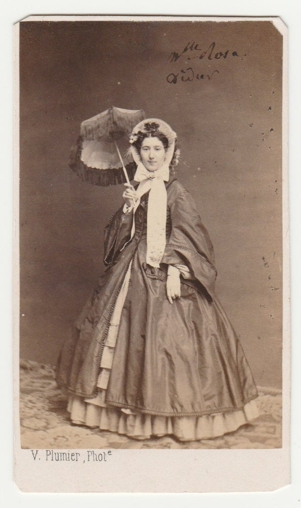 Image of Victor Plumier: lady with umbrella, ca. 1865