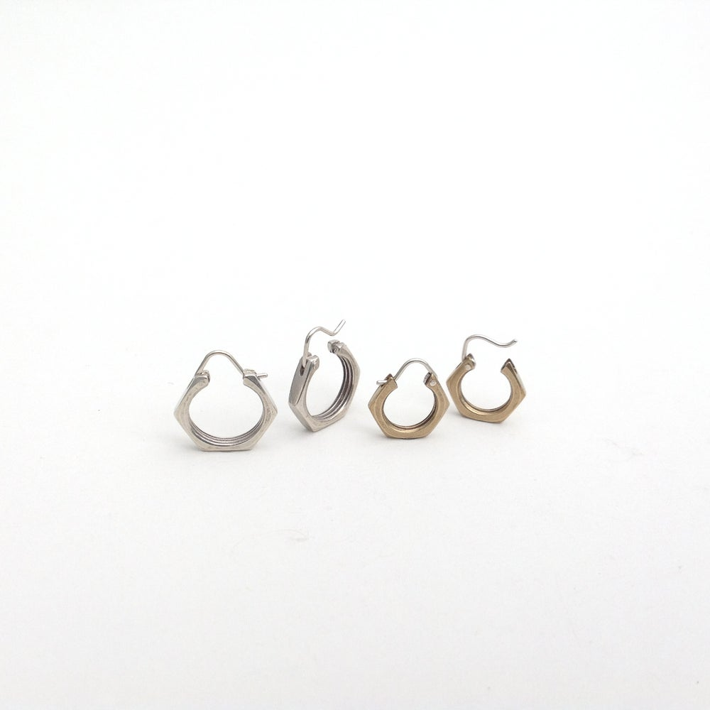 Image of nut hoops ~silver or brass ~sm or lg