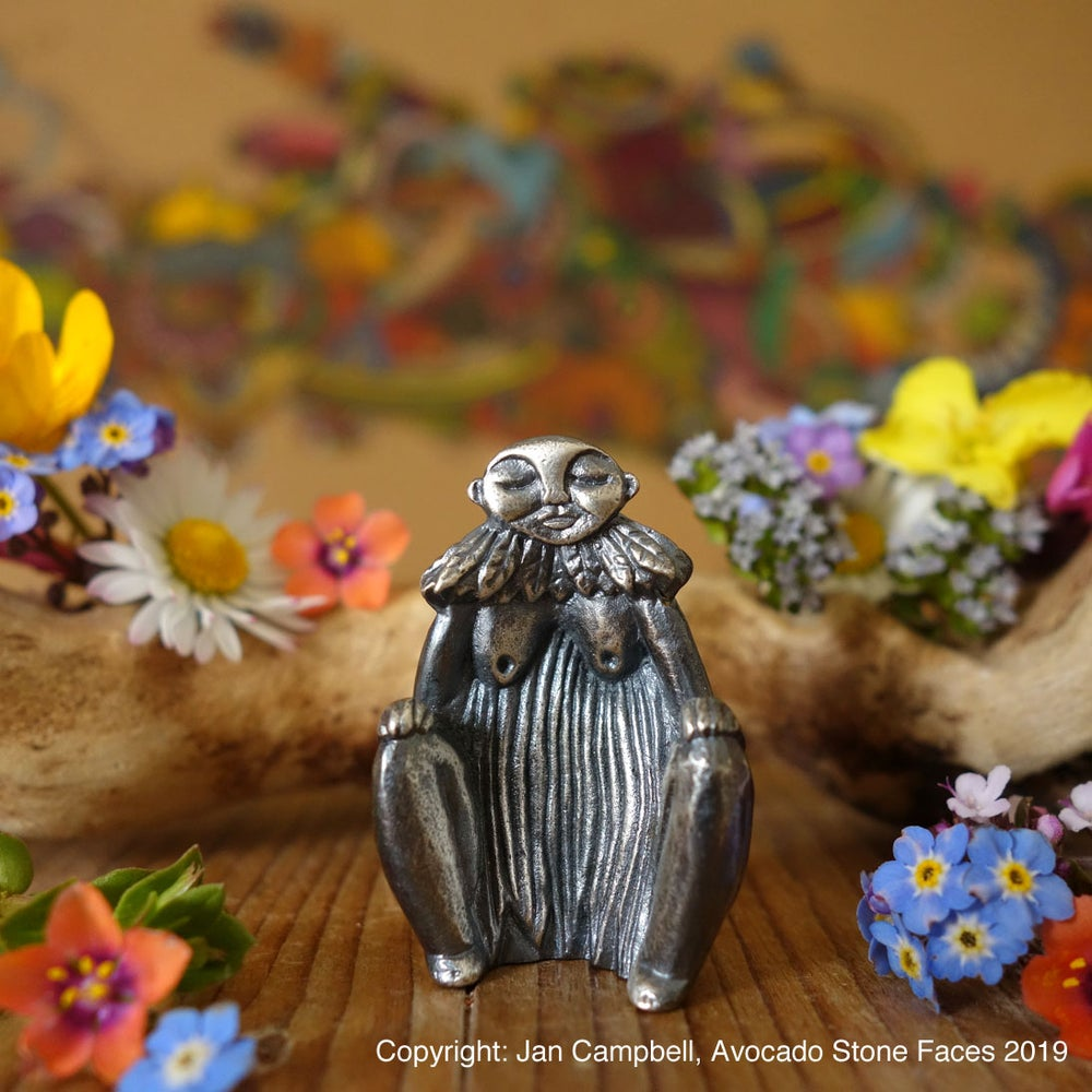 "Image of ""Danu"" - Mother Goddess - Sterling Silver Figurine"