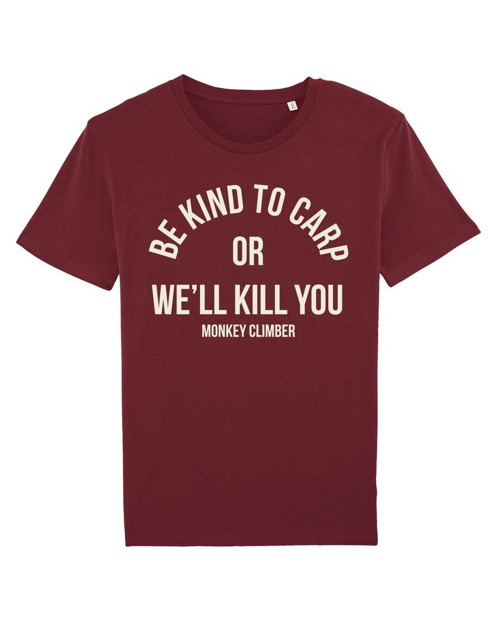 Image of Monkey Climber Kindred shirt I Burgundy