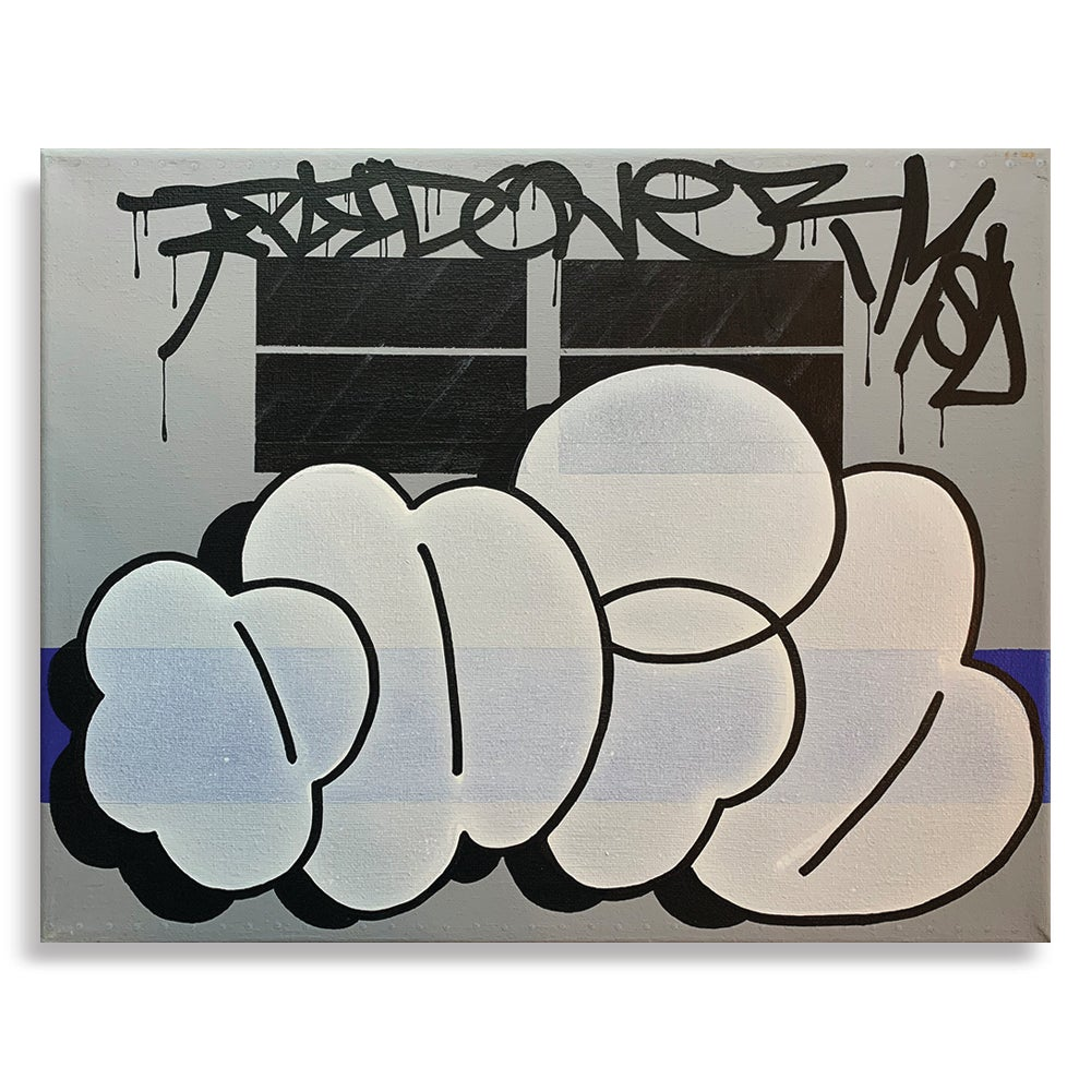 "Image of 11"" x 14"" - Paid - Train Throwie"