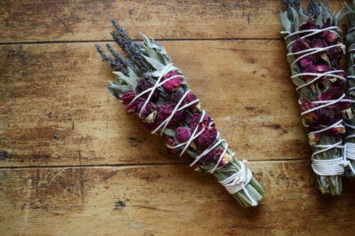 Image of Floral Sage Ritual Smoke Wand | smoke cleansing | energy cleansing