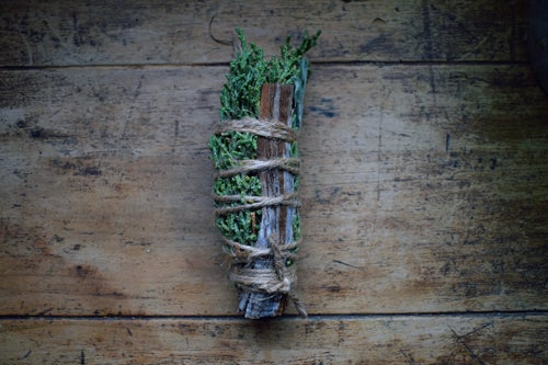 Image of Juniper + Sage Sacred Smudge Wand   Cleansing - Resilience - Wisdom   ritual