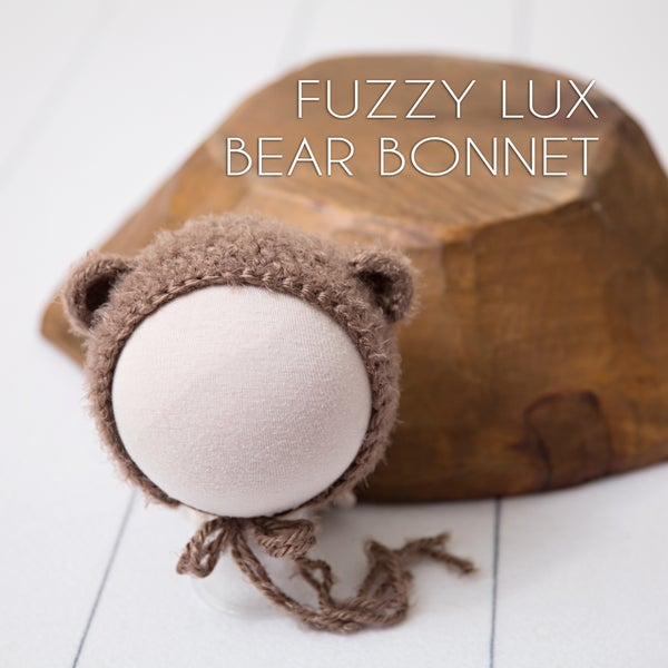 Image of Fuzzy Lux Bear Bonnet
