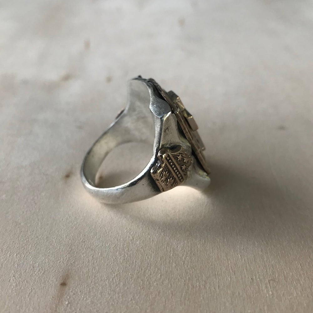 ROSE CROSS RING