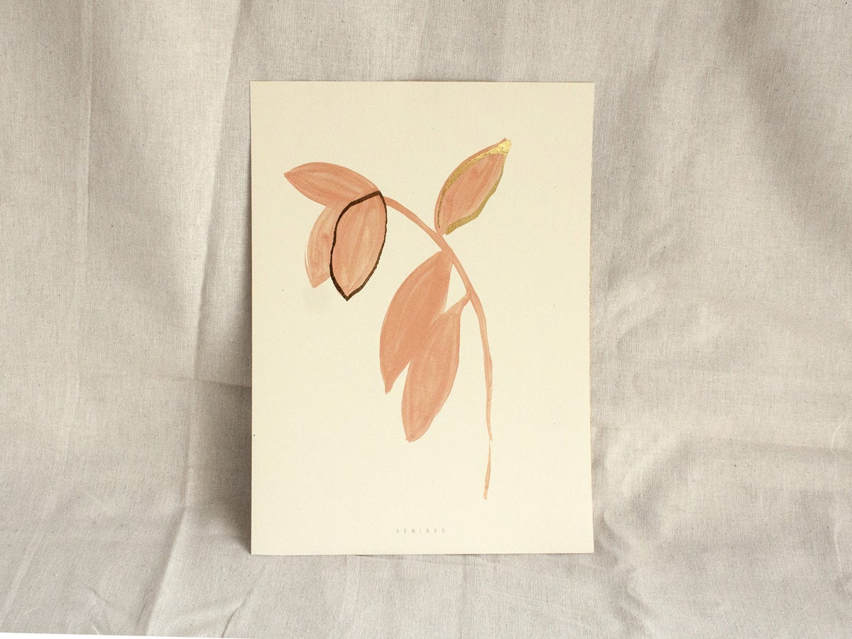 Image of Pink Gold Leaves