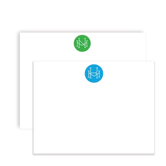 Image of Circle Monogram Notecards