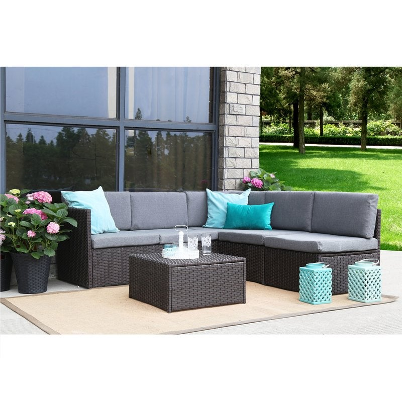 Catharine Outdoor 4 Piece Sofa Seating Group With Cushions Patio
