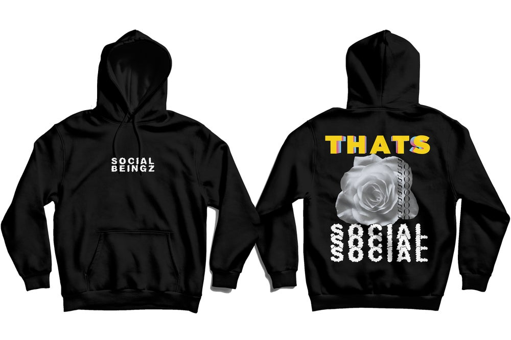 Image of THAT'S SO SOCIAL-Black Hoodie