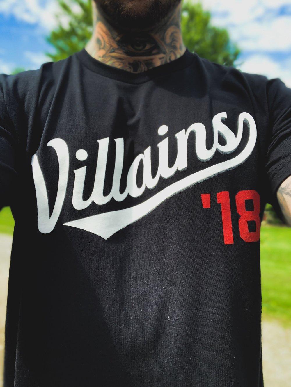 Image of Villains '18 black limited tee