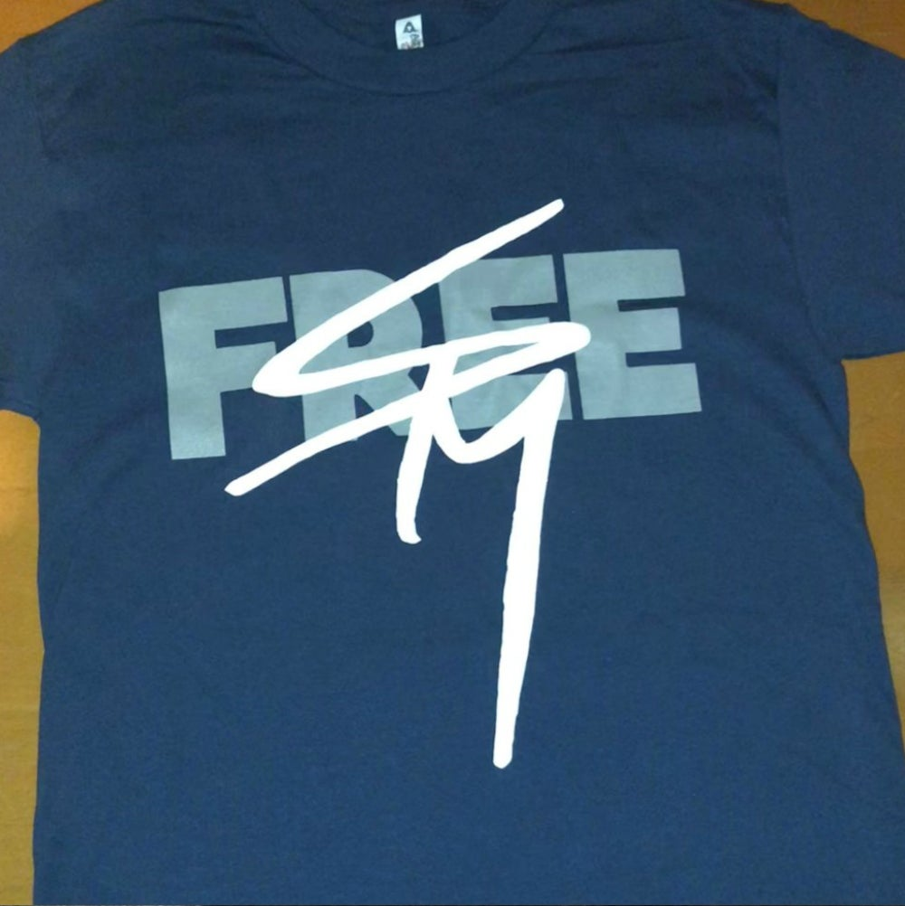 Image of New! 'Free SPM'/Dope House/Dope World dark blue tee