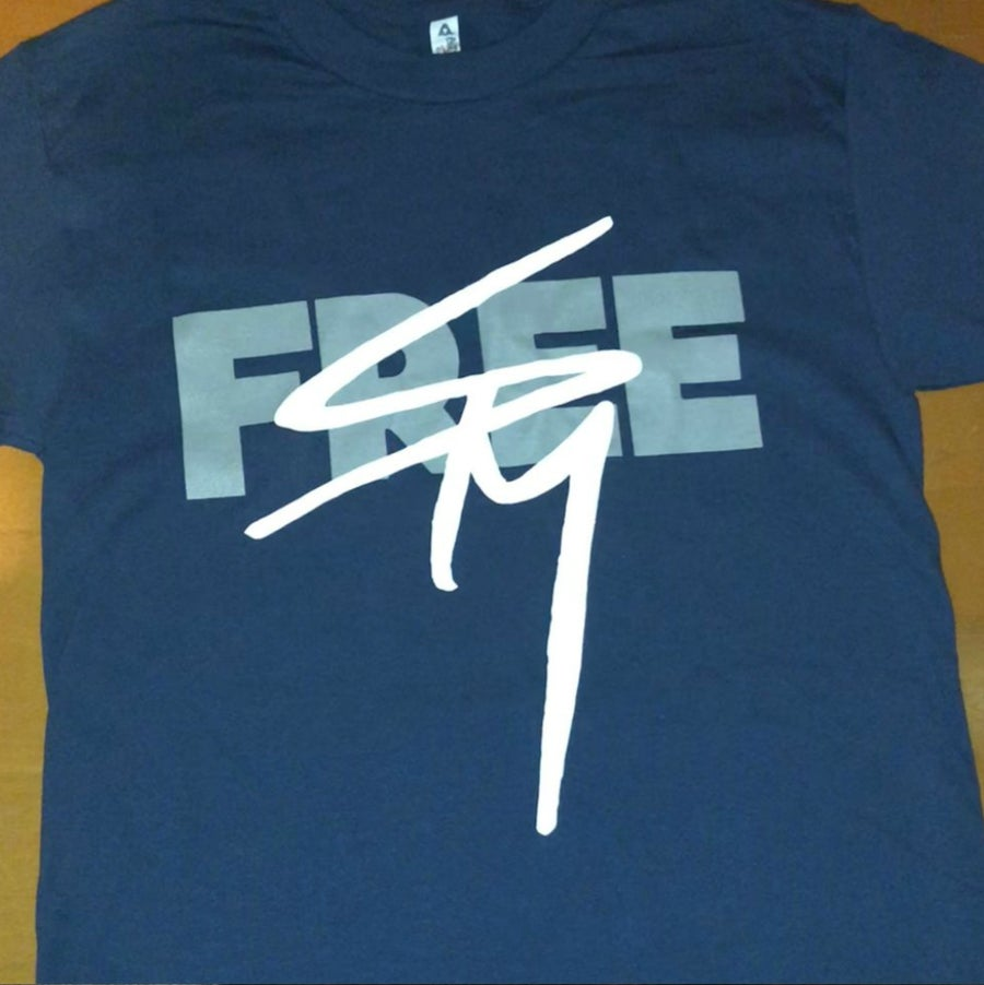 Image of New! 'Free SPM'/Dope House/Dope World dark blue tee