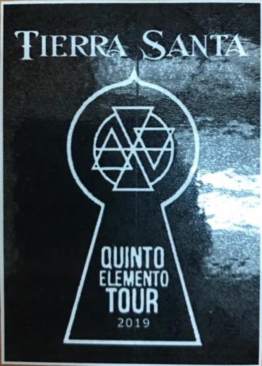 Image of Tierra Santa Sticker Quinto Elemento USA Tour 019