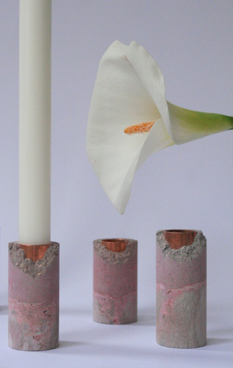 Image of SET 3 HUNO CANDLEHOLDER