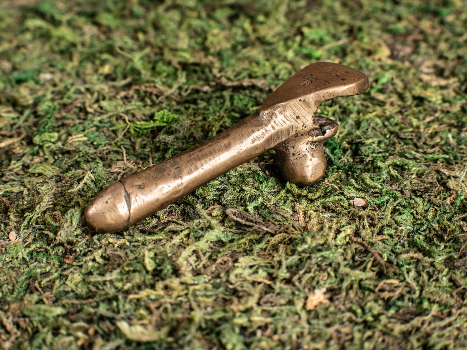 Image of Vintage Bronze Penis/Balls Bottle Opener