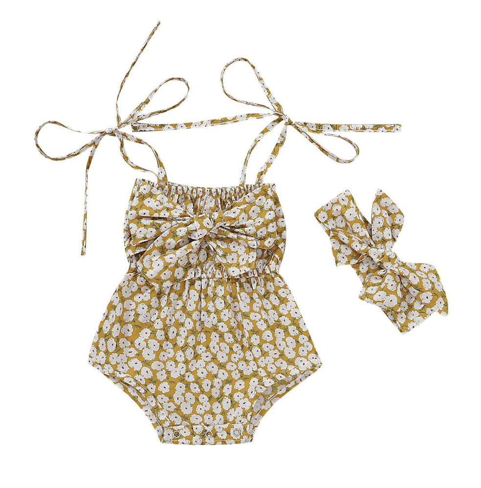 Image of Brooklynn Boho Romper + Headband